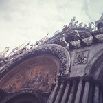 Facade of St. Mark's Cathedral-Venice