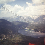Eibsee, as seen from the cog train