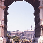Looking through the Arch of Titus