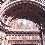 Mosaic above Cathedral door-Florence