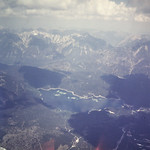 Aerial view of Eibsee