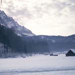 Fields and mountains near Garmisch