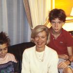 Mary Ann Calkins Pilain & family in their apt.