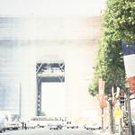 Arc de Triomphe w/ tri-color scaffolding